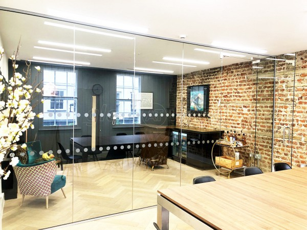 Cedar Dean Commercial (Soho, London): Toughened Glass Office Wall & Door