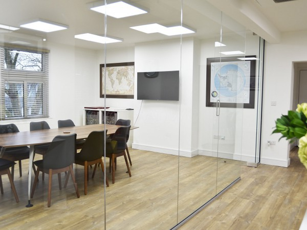 Oil Chart Offshore (Chiswick, London): Glass Partition Wall & Door