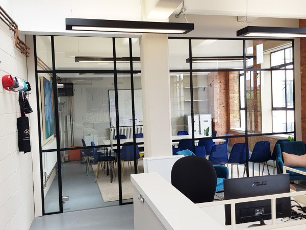 Cleveland & Co (Bermondsey, London): Black T-Bar Industrial Warehouse-Style Glazed Partitions