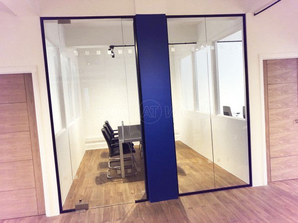 Desfran Holdings Limited (Shoreditch, London): Toughened Glass Meeting Room With Frameless Glazed Door