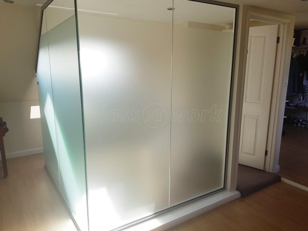 Domestic Project (Edgware, Middlesex): Residential Glass Partition Under Eaves Over A Stairwell
