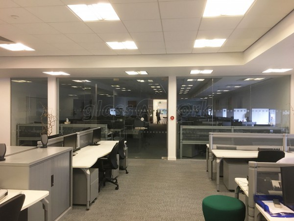 Firstnet Data Centres Limited (Holbeck, Leeds): Glazed Partitions With Glass Double Door Set
