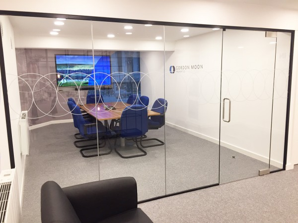 Gordon Moon Properties (Bolton, Greater Manchester): Frameless Glass Corner Room With Bespoke Film