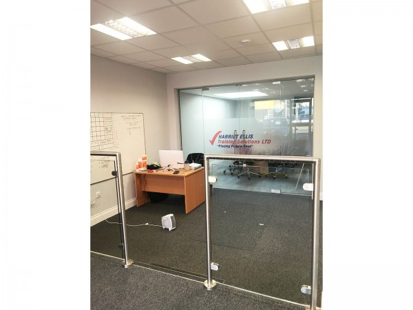 Harriet Ellis Training Solutions Ltd (Romford, Essex): Frameless Glass Double Doors & Glass Balustrade