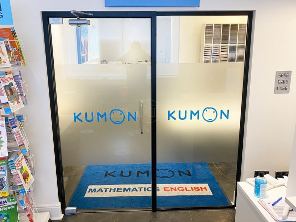 Harrogate Kumon Centre (Harrogate, North Yorkshire): Acoustic Frameless Glass Wall With Black Framework