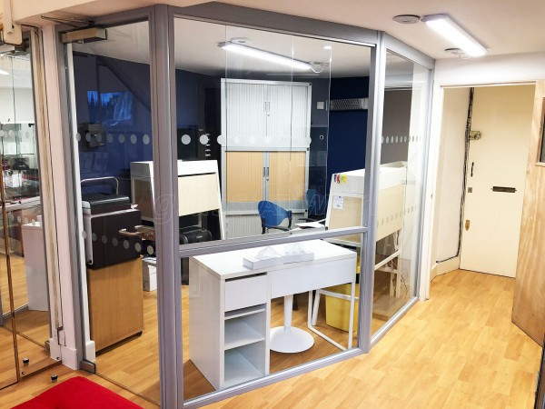 Humanify Ltd (Wandsworth, London): Glass Wall With Sliding Glass Hatch