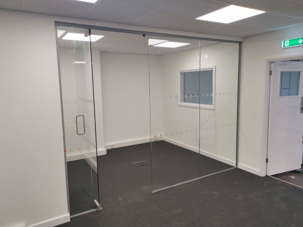 Interior Service Ltd (Brierley Hill, West Midlands): Small Glazed Office Divider / Separation Screen