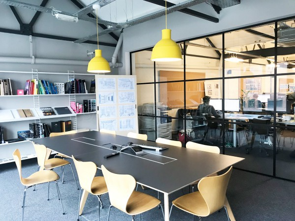 Uniform Communications (Liverpool, Merseyside): Black Slimline T-Bar Industrial-Style Glass Partition [Steel Frame Alternative]