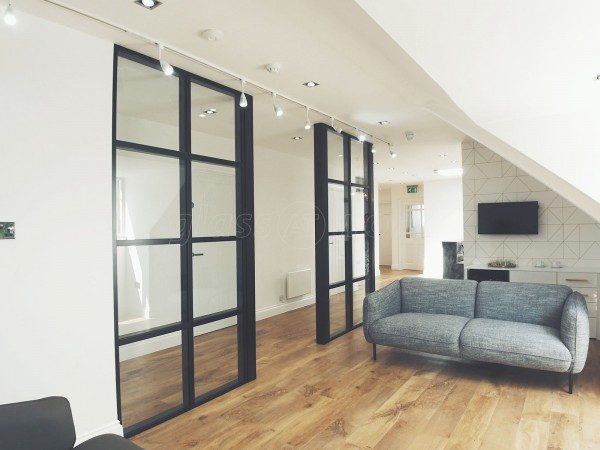 T-Bar Chunky Double Glazed Industrial Style Glass Partitioning