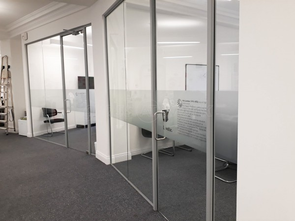 Kiwi Power/Dant Properties (Finsbury Circus, London): Glass Partitions With Doors and Window Film