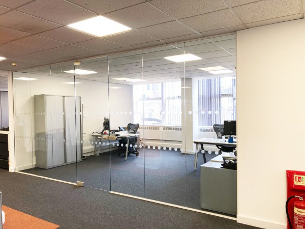 Managed Enterprise Technologies Ltd (Edgbaston, Birmingham): Toughened Glass Office Partition, Frameless Door