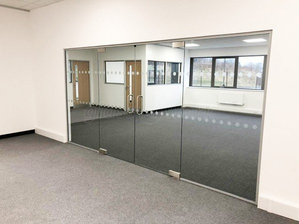 MPC Systems [North] Limited (Chesterfield, Derbyshire): Frameless Style Double Door Glass Partition