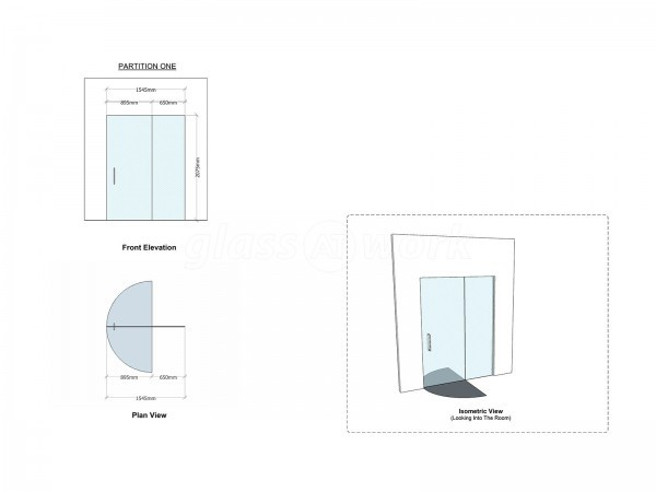 HDI Ltd (Northern Quarter, Manchester): Small Glass Screen in a Retail Outlet