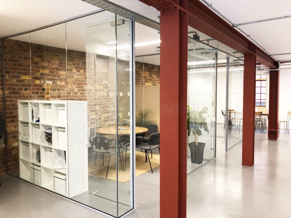 Natalie Gamble Associates LLP (Tower Bridge, London): Two Frameless Glass Offices With Glazed Dividing Wall