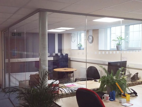 PLANED (Narberth, Pembrokeshire): Office Interior Glazed Corner Room and Door