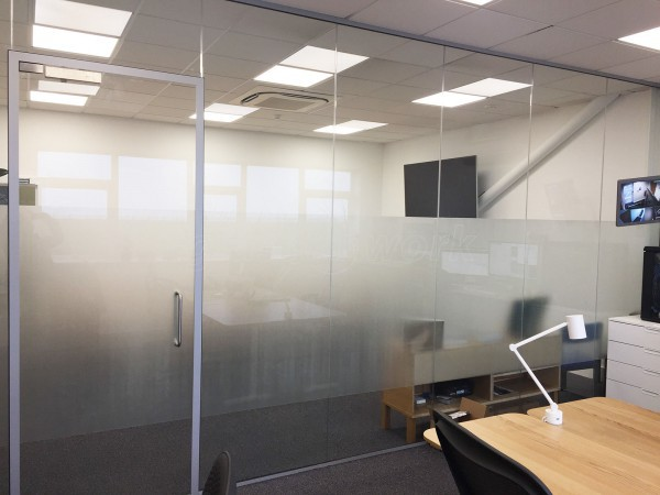 Pinewood Studios Group (Shepperton, Greater London): Modern Office Frameless Toughened Glass Partition