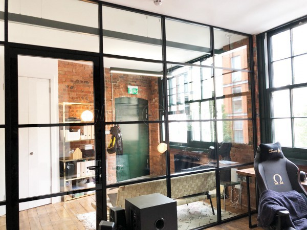 Private Island (Hackney, London): Double Glazed Acoustic Industrial-Style Corner Room With Black Bars