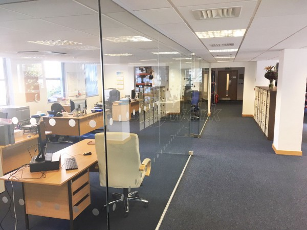 RJS Electronics Ltd (Bedford, Bedfordshire): Large Glass Corner Office With Double Doors