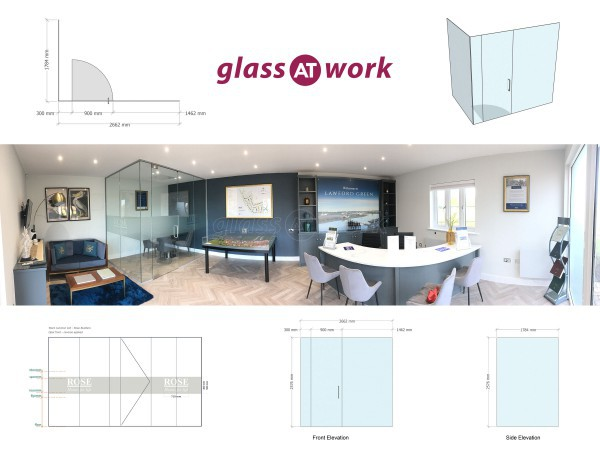Rose Builders Ltd (Lawford, Essex): Toughened Glass Corner Room - Ideal For Office Isolation