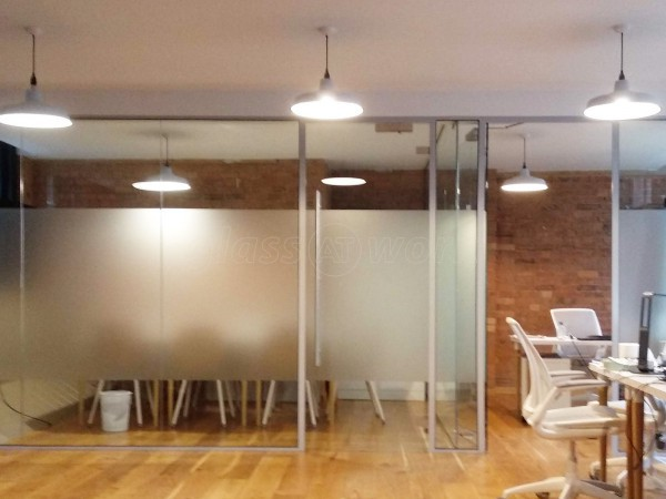 SRE London Ltd (Shoreditch, London): Glass Office Rooms With Notching & Shaping For Obstructions