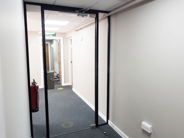 Siderise Insulation Limited (Maesteg, Bridgend): Glazed Office Door With Black Frame