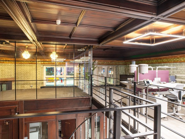The White Lab (Ardwick, Manchester): Industrial-Style Glass Corner Rooms, Including Mezzanine Edge Protection