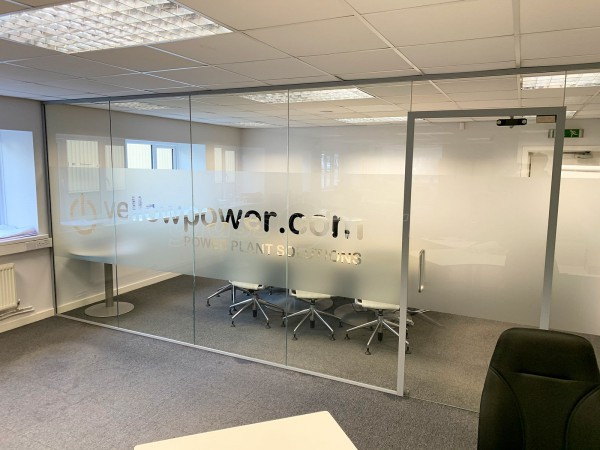 Yellow Power Ltd (Stone, Staffordshire): Office Acoustic Glass Screen Partition with Soundproofing