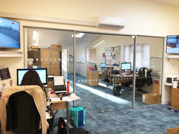 Chambers Southern Ltd (Worlds End, Hampshire): Two Acoustic Glass Partitions With Door