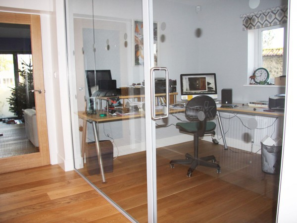 Domestic Project (Aylesbury, Buckinghamshire): Acoustic Glass Partitioning