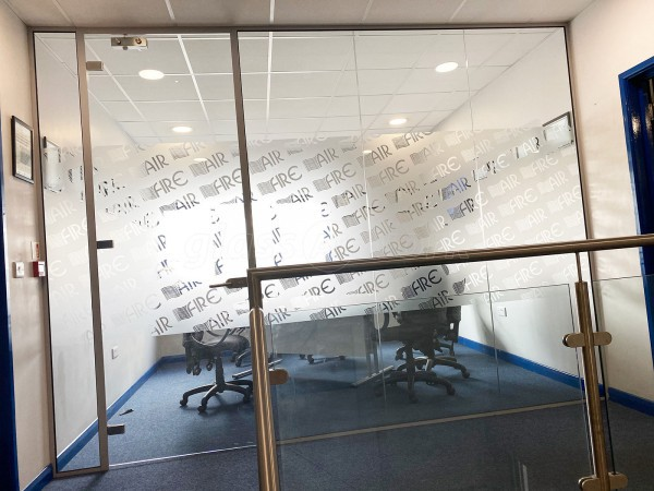 Airtrace Sheet Metal Ltd (Eastbourne, East Sussex): Toughened Glass Separating Wall With Door