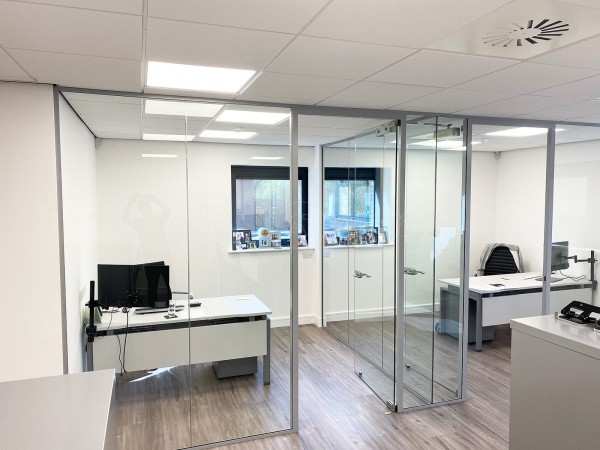 Archway Construction (Northampton, Northamptonshire): T-Shaped Glazed Partition Walls With Acoustic and Toughened Glass