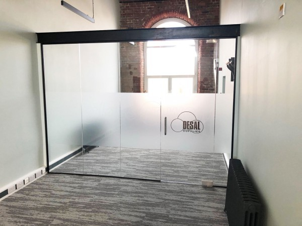 Ashworth Construction (Rochdale, Greater Manchester): Glass Wall and Door Under Beam [With Open Top]