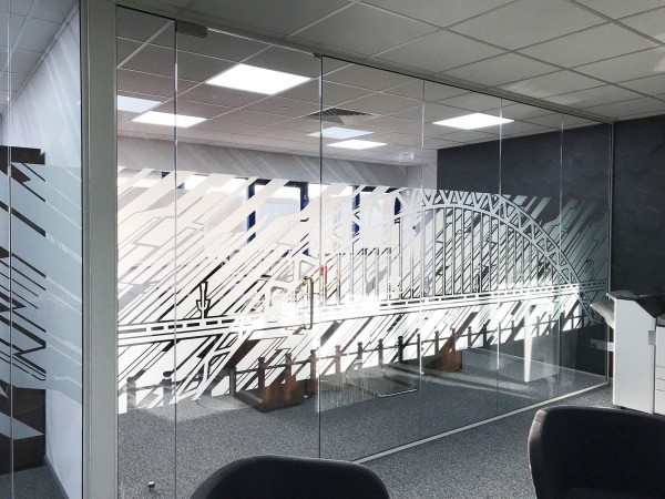 Aspect Interior Concept Ltd (Swindon, Wiltshire): Glass Office Partition Refurbishment With White Framed Glazed Doors