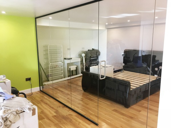 Domestic Property (Newhaven, East Sussex): Internal Glass Wall and Door For A Bedroom
