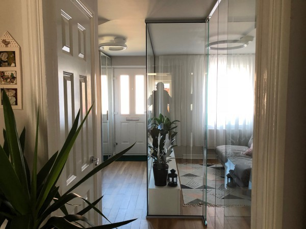 Domestic Project (Wokingham, Berkshire): Stepped Glazed Partition With Frameless Door
