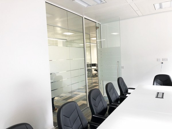 Key Building Services (Ladywood, Birmingham): Glass Office Fit Out With Acoustic Glazing & Framed Glazed Doors With White Framing