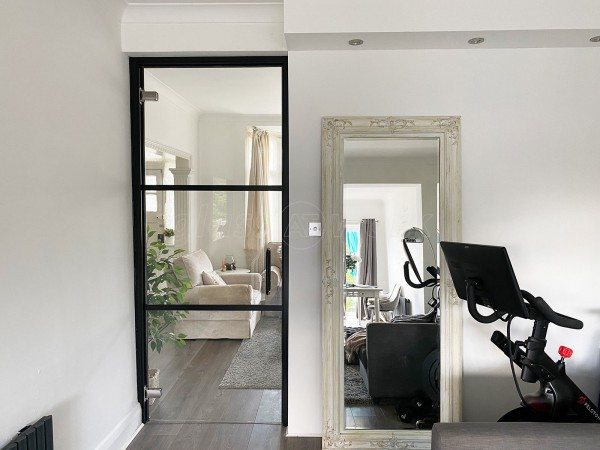 Residential Project (Friary Park, London): T-Bar Glazed Door With Black Bars