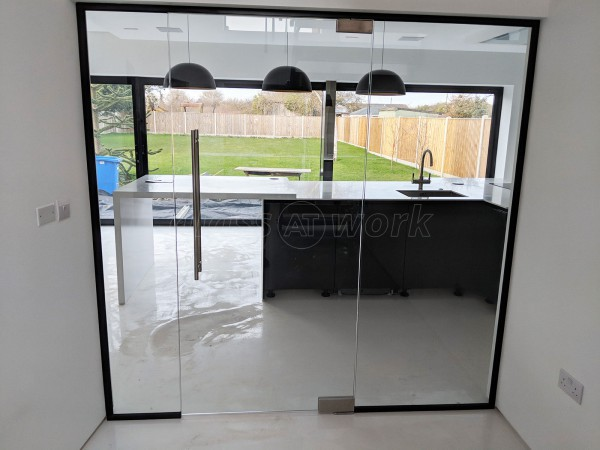 Domestic Property (Lowestoft, Suffolk): Glass Wall With Black Frame
