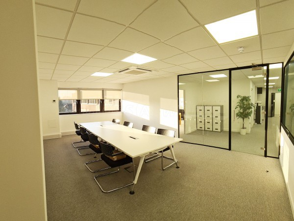 Blair Contracts Design & Build (Luton, Bedfordshire): Glazed Office Screen With Acoustic Soundproofing Glass