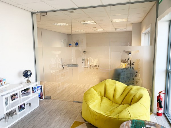 The British Premium Sausage Company (Normanton, West Yorkshire): Office Frameless Glass Partition Wall
