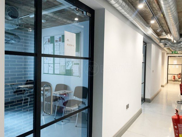 The Burlington School of English (Wandsworth, London): Industrial-Style Toughened Glass Doors With Black Frame