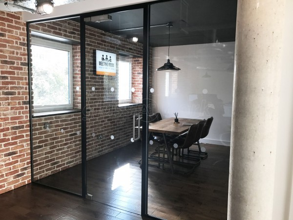 Buysend.com (Chelmsford, Essex): Black Framed Glass Partition With Acoustic Glass