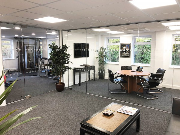 Jay City Finance Ltd (Kings Langley, Hertfordshire): Two Frameless Glass Office Walls & Doors