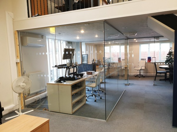 CMS Financial Management Ltd (Bicester, Oxfordshire): Single Glazed Toughened Glass Office Partition