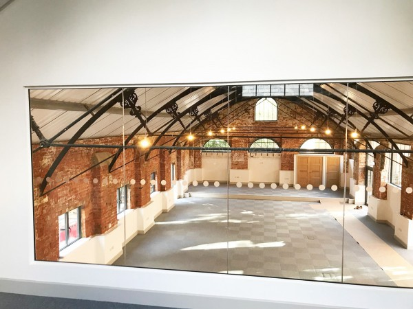 Colburn Developments (Stroud, Gloucestershire): Inline Single Glazed Acoustic Glass Partition on a Mezzanine