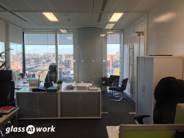 Court Collaboration (Birmingham): Single Glazed Office Partition