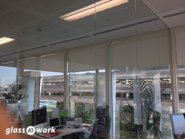 Court Collaboration (City Centre, Birmingham): Single Glazed Office Partition