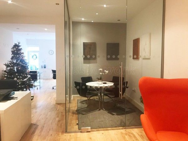 Westlakes Recruit (Cockermouth, Cumbria): Frameless Glazed Corner Office Partition