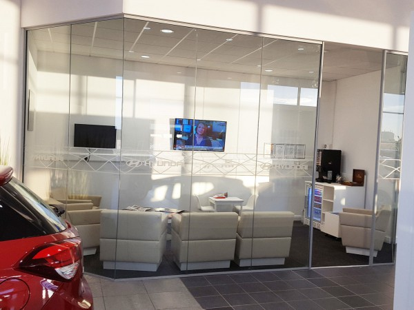 J Edgar & Son (Workington, Cumbria): Glass Walls For A Car Showroom