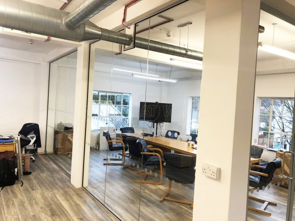Dajon Accounts (Orpington, London): Large Corner Room Toughened Glass Office Partition
